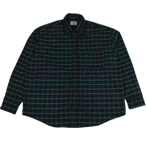 [모딕토] Basic Flannel Shirt_(Green)