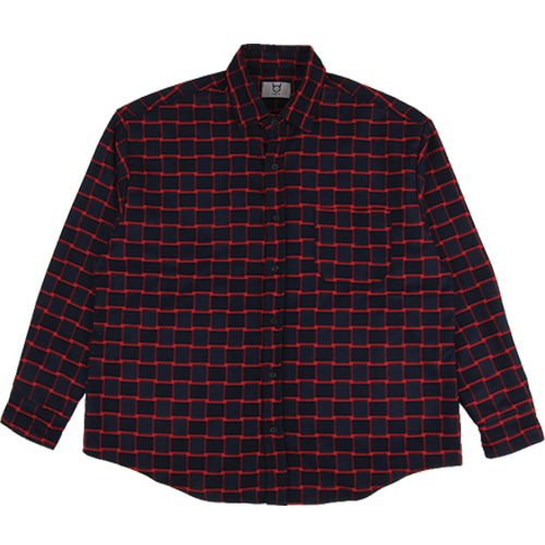 [모딕토] Basic Flannel Shirt_(Red)